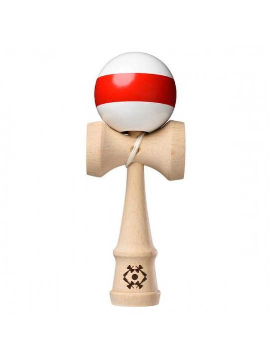 Tribute Kendama White with Red Single Stripe (alb/dunga rosie)